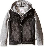 Amazon.com: Kids Toddler Denim Jacket with Hood Coat Cowboy Hoodie