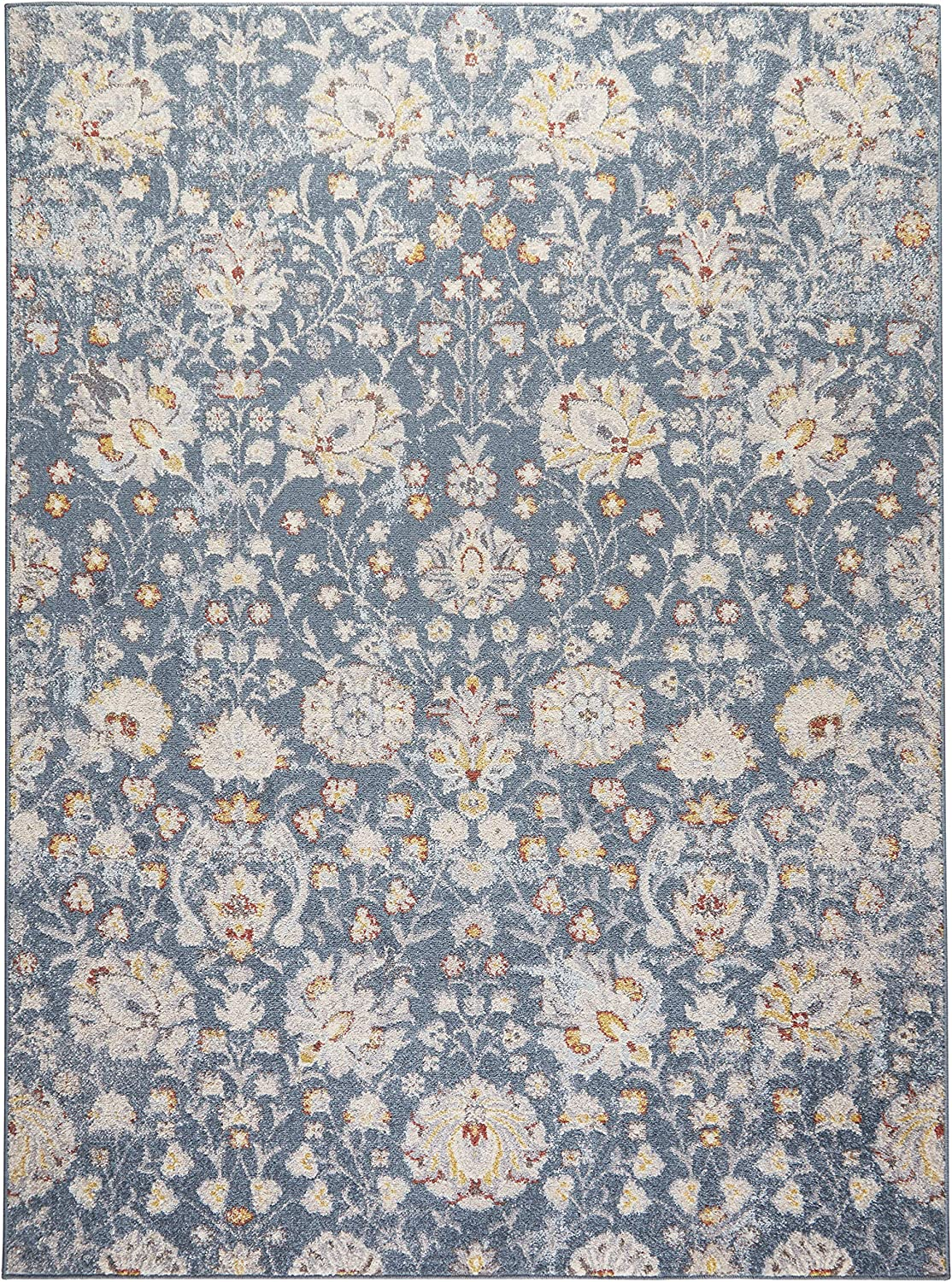 Home Dynamix Venice Flore Area Rug 5 3 X7 3 Rectangle Blue Ivory Furniture Decor