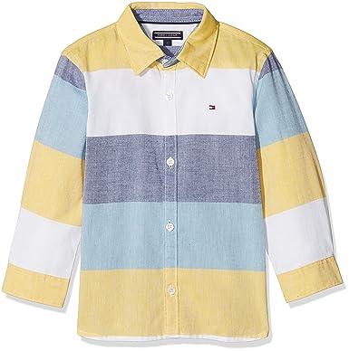 Tommy Hilfiger Jungen Hemd Colorblock Oxford Shirt L S  Amazon.de   Bekleidung b0dbf6d4a6