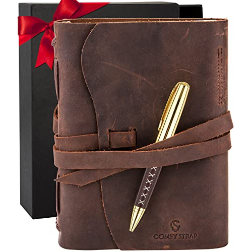 leather journal bound notebook for men women luxury gift set for anniversary - Best Christmas Gifts For Men
