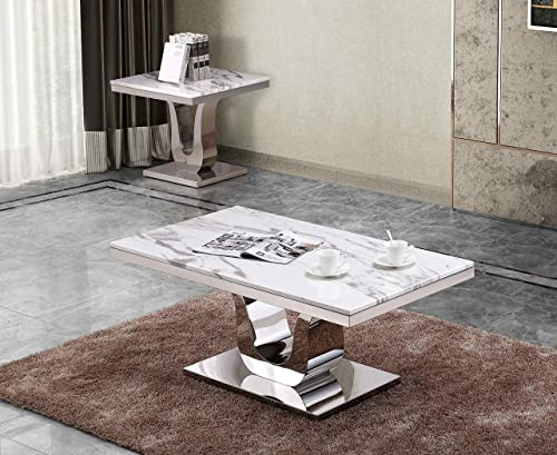 Quality Furniture Coffee Table Only White