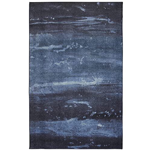 Mohawk Home Sidney Navy Area Rug, 5 x8 ,