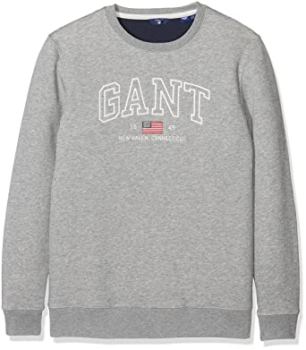 GANT Jungen Sweatshirt O New Haven C Neck Sweat, Grau (Grey