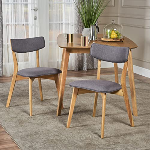 Christopher Knight Home Abrielle Mid-Century Modern Fabric Dining Chair
