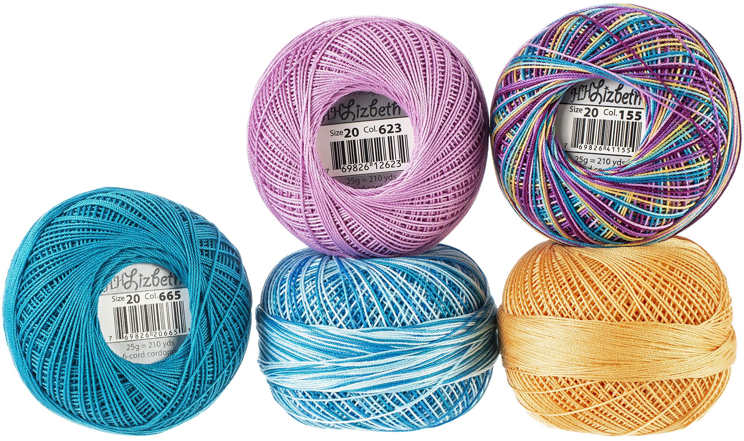 Handy Hands Lizbeth Specialty Pack Cordonnet Cotton Size 20-ocean View 5/pkg by Handy Hands (Image #1)