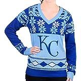Klew MLB Women's V-Neck Sweater