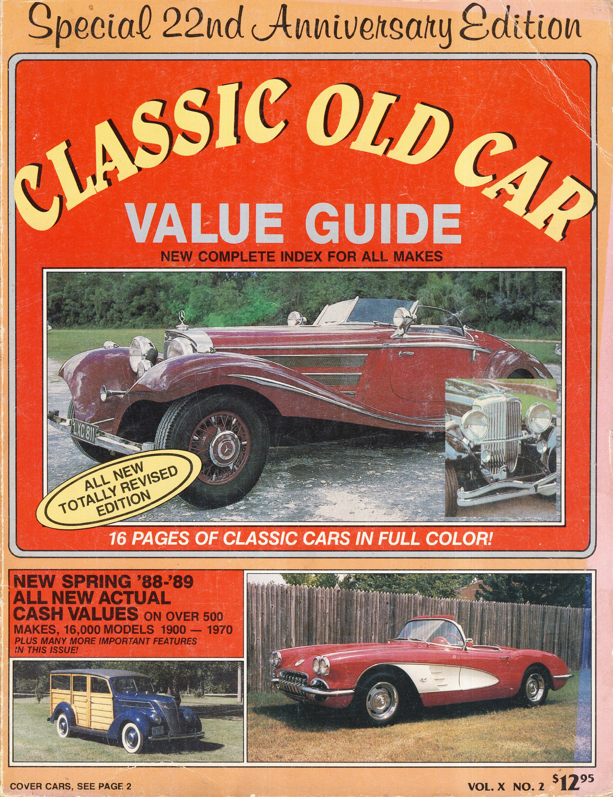 Old Car Values >> Classic Old Car Value Guide 1988 9780911473247 Amazon Com