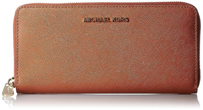 c5f15277e68d6 Michael Kors Continental Jet Set Orange Leather Travel Wallet  Amazon.co.uk   Clothing