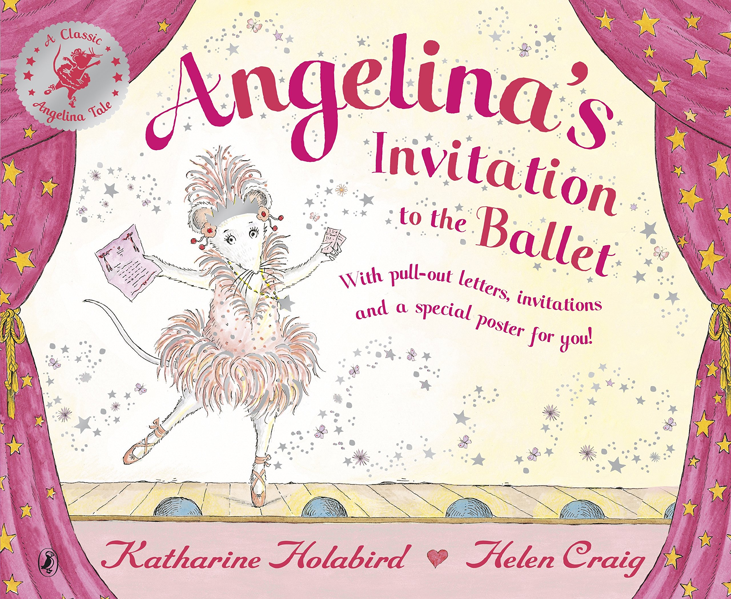 Invitation to the Ballet Angelina Ballerina Katharine Holabird – Angelina Ballerina Birthday Invitations