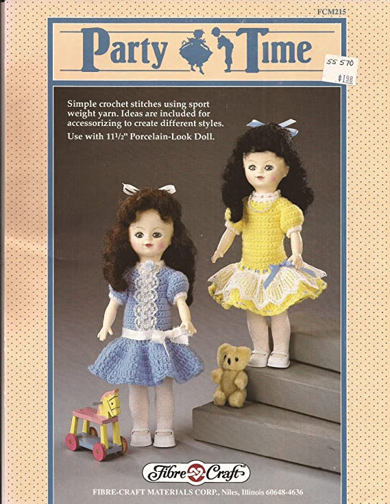 Amazon Party Time Dress For 11 12 Doll Fibre Craft Crochet