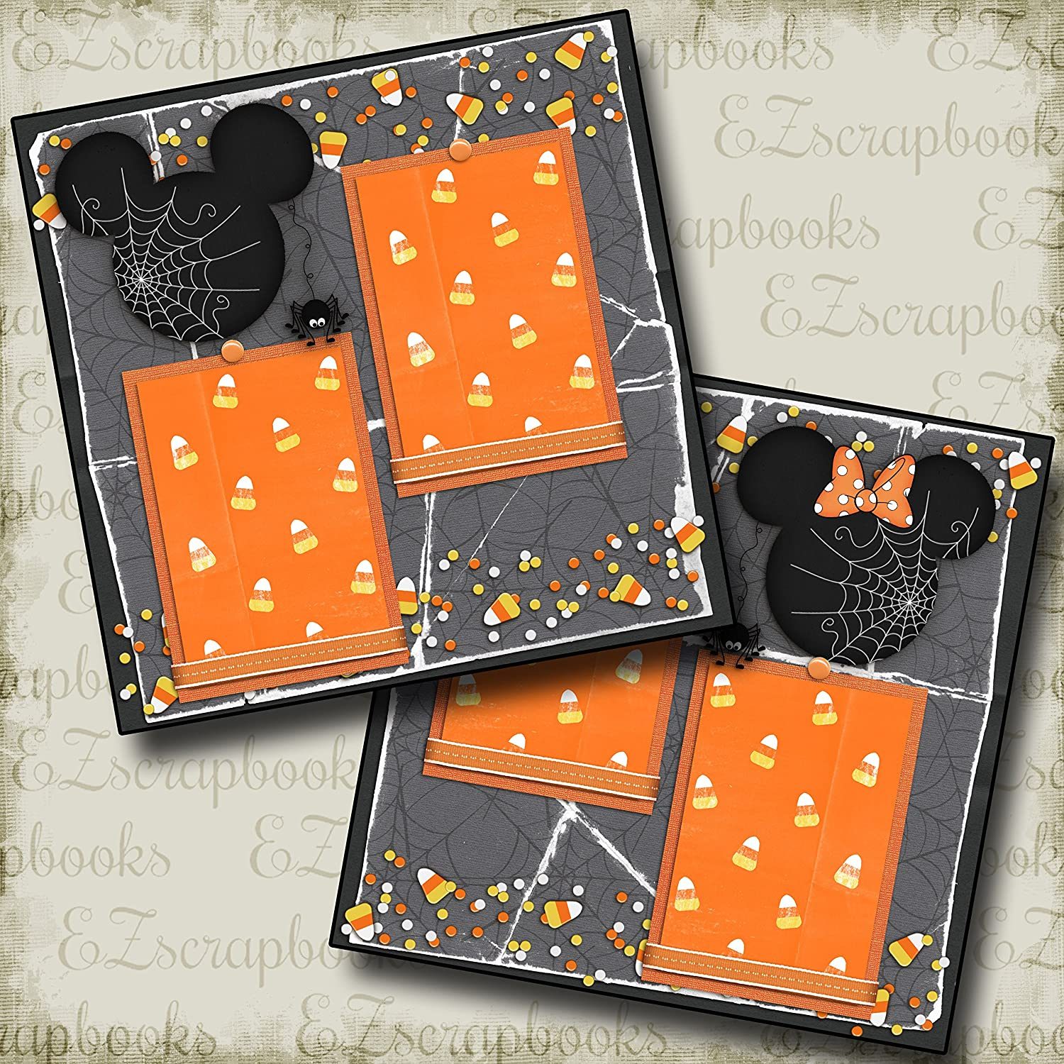 EZ Layout 2365 CANDY CORN MOUSE Premade Scrapbook Pages