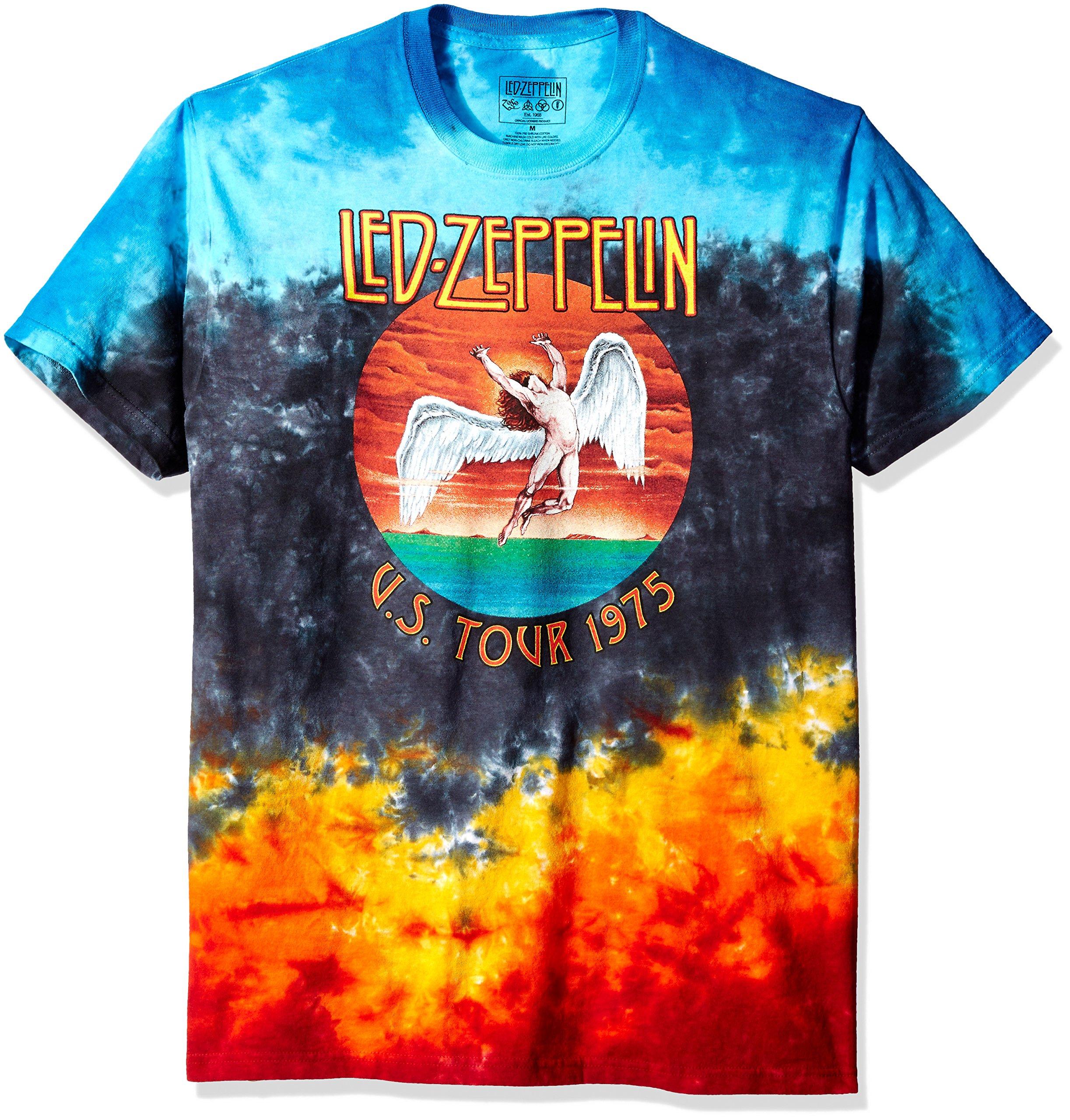Liquid Blue Men's Led Zeppelin Icarus 1975 T-Shirt, Multi, Medium