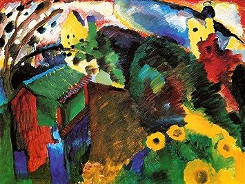 amazon wassily kandinsky garden old master art painting print 12x16