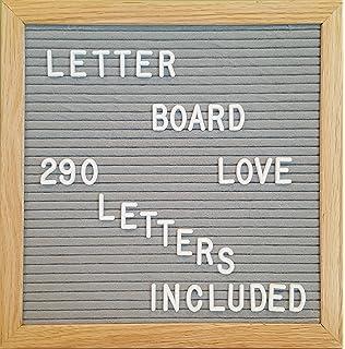felt letter board 10 x 10 oak wood frame with 290 34