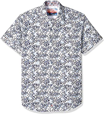 Robert Graham Mens Delgado Short Sleeve Shirt