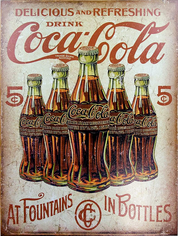 Coca Cola lata de estilo retro metal Vintage para la pared regalo pared