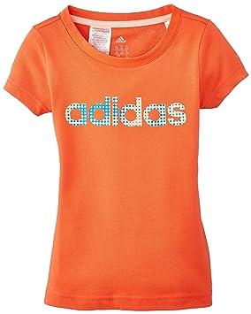 adidas Linear - Camiseta de fitness para niña, color naranja, talla FR: FR : 13-14 ans (Taille Fabricant : 164): Amazon.es: Deportes y aire libre
