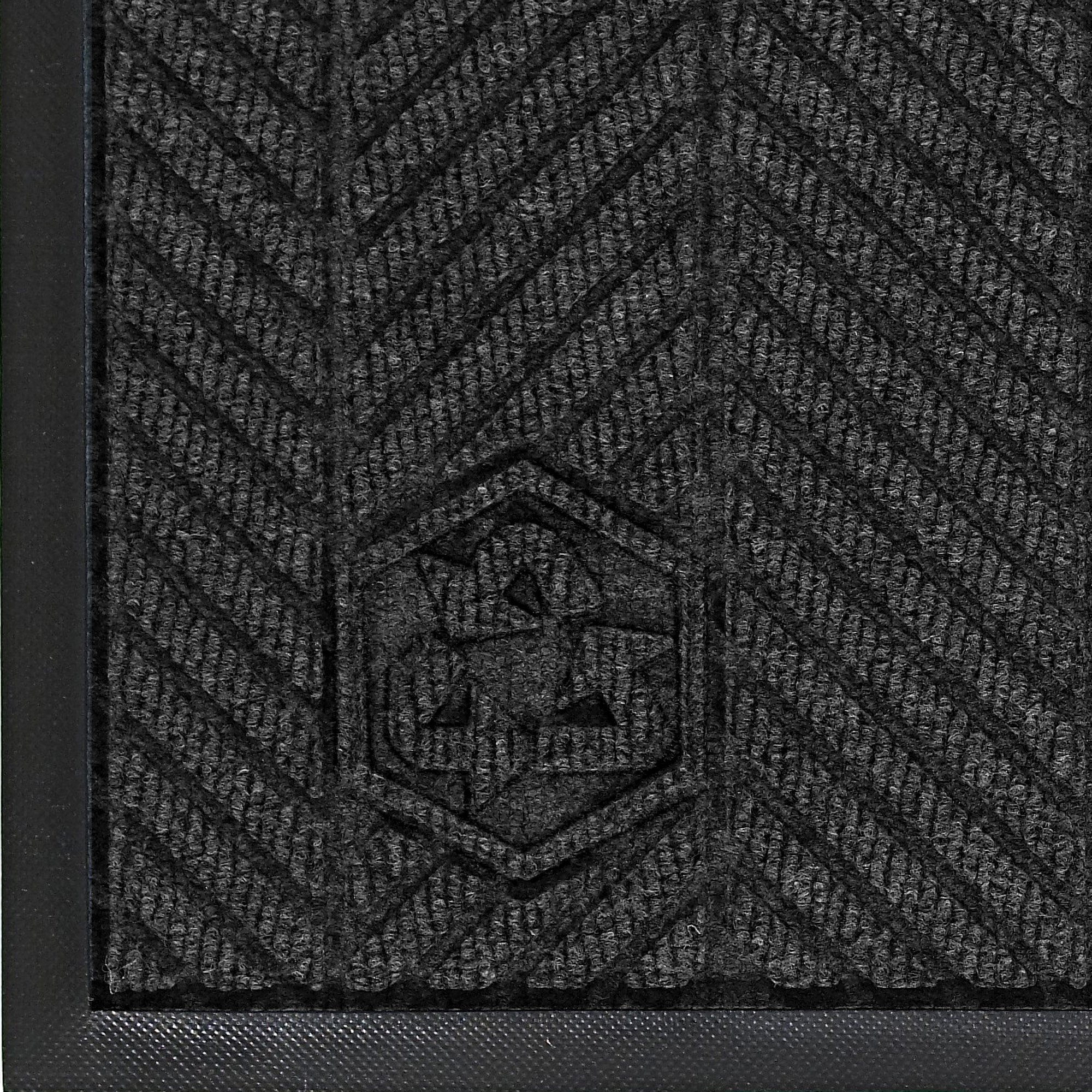 Andersen 2240 Waterhog Classic ECO Elite PET Polyester Entrance Indoor Floor Mat, SBR Rubber Backing, 6' Length x 4' Width, 3/8'' Thick, Black Smoke