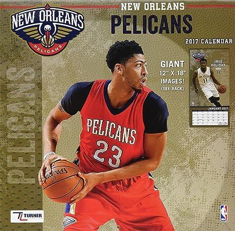 Turner Licensing Sport 2017 New Orleans Pelicans Team Wall Calendar,  12u0026quot;X12u0026quot; (