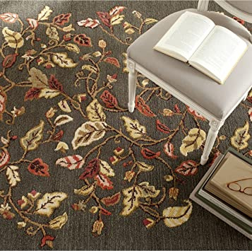 Safavieh Martha Stewart Collection Msr3611b Handmade Autumn Woods Wool Viscose Area Rug 8 X 10 Francesca Black Furniture Decor