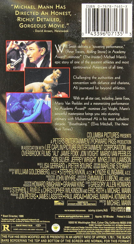 Ali [USA] [VHS]: Amazon.es: Will Smith, Jamie Foxx, Jon ...