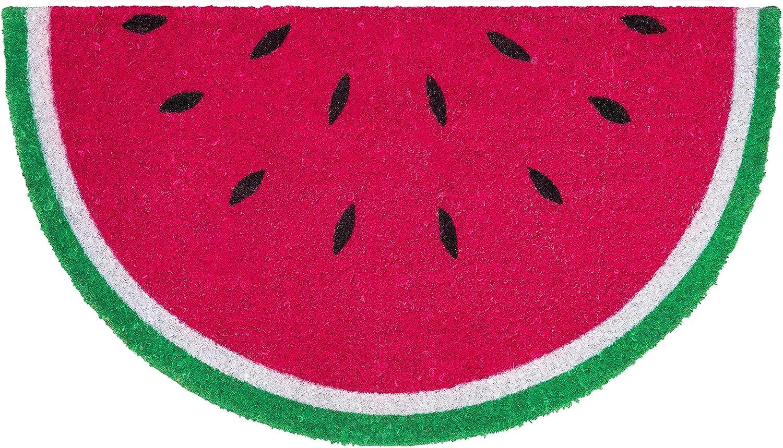 """Watermelon Summer Coir Doormat Natural Fiber Outdoor 18/"""" x 30/"""" Briarwood Lane"""
