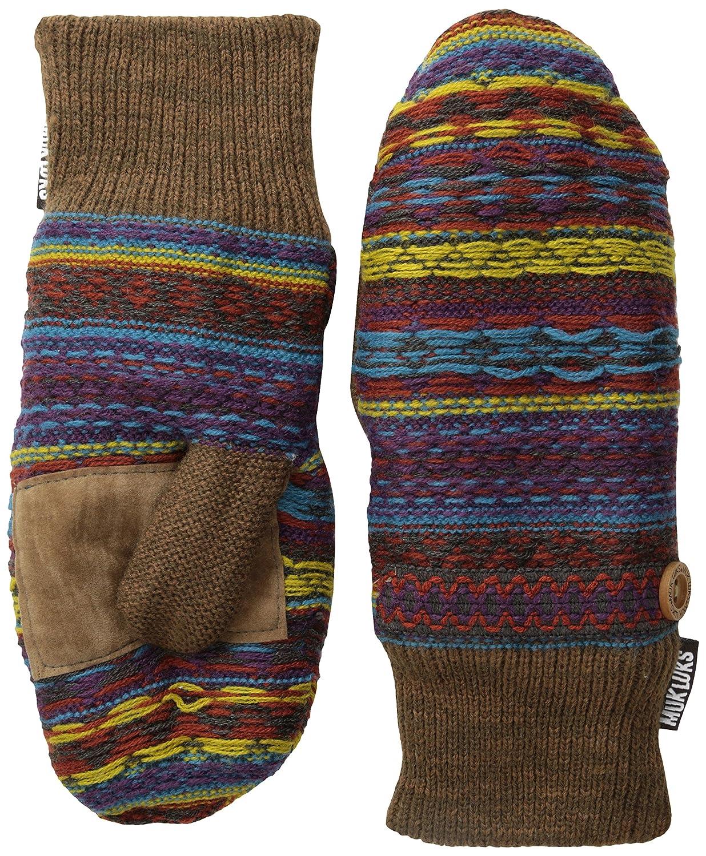 Muk Luks Women's Winter Mittens Brown One Size 0033951