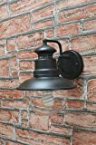 Lampada per esterno da parete in acciaio con vetro 22x26 cm