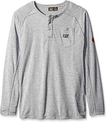 Caterpillar Henley Camisa de trabajo resistente al fuego de 6.7 oz de manga larga: Amazon.es: Ropa y accesorios