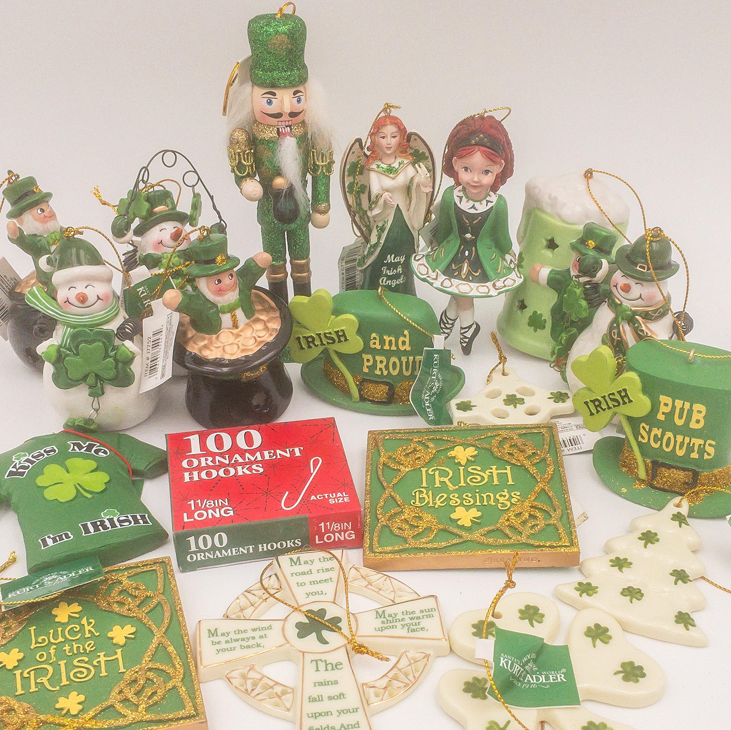 JZ Bundles Starter Set - Irish - Kurt Adler - 19-Piece Bundle - A Bundle of Christmas Ornaments Great Gift by JZ Bundles (Image #4)
