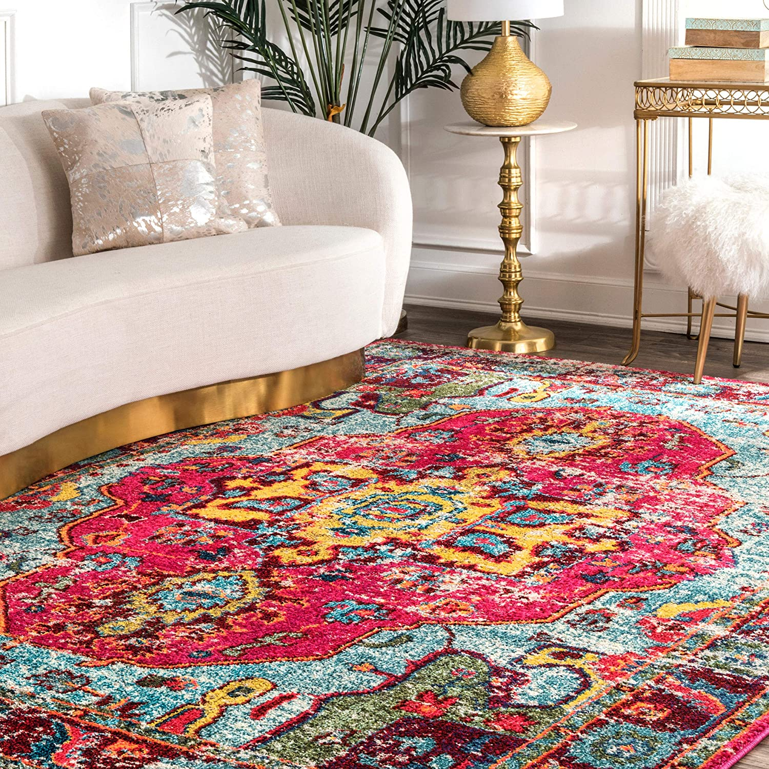 nuLOOM Bohemian Corbett Distressed Accent Rug, 2' x 3', Multi