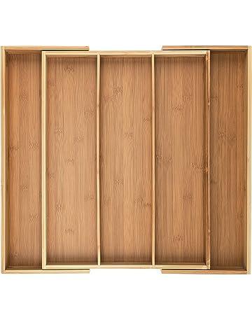 Artisware Bambú Organizador del cajón Extensible, Cubiertos y Utensilios de la Bandeja