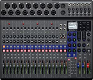 Zoom LiveTrak L-20 Digital Mixer & Multitrack Recorder, 20-Input/ 22-Channel SD Card Recorder, 22-in/4-out USB Audio Interface, 6 Customizable Outputs, Wireless iOS Control