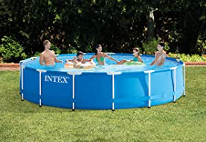 Intex Metal Frame - Piscina desmontable, 457 x 84 cm, con ...
