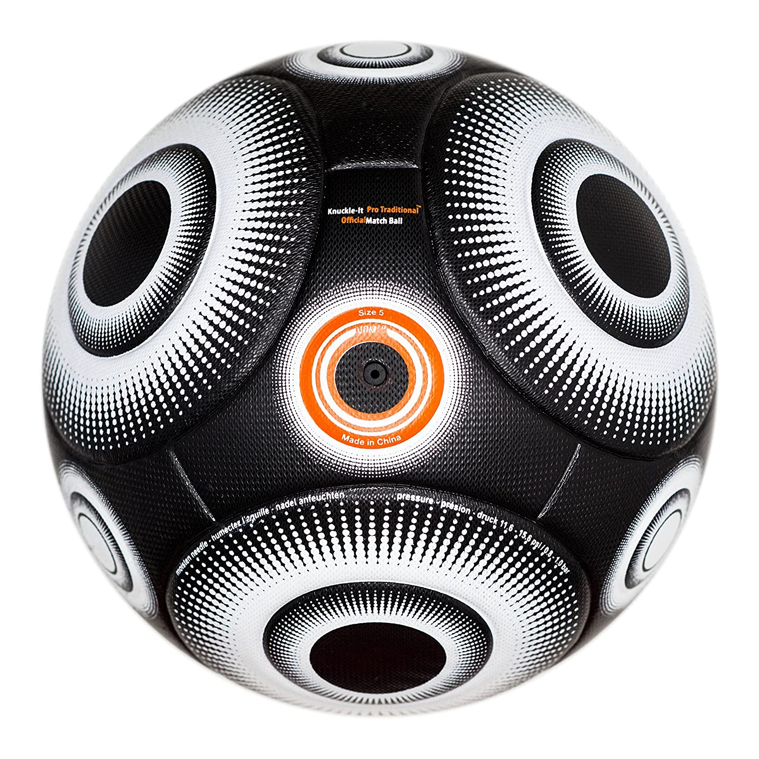 bend-itサッカー、knuckle-it Pro、サッカーボール、Official Match Ball with VPM and VRCテクノロジー B075DR2SNSBlack/White (Knuckle-It Pro Traditional) 5