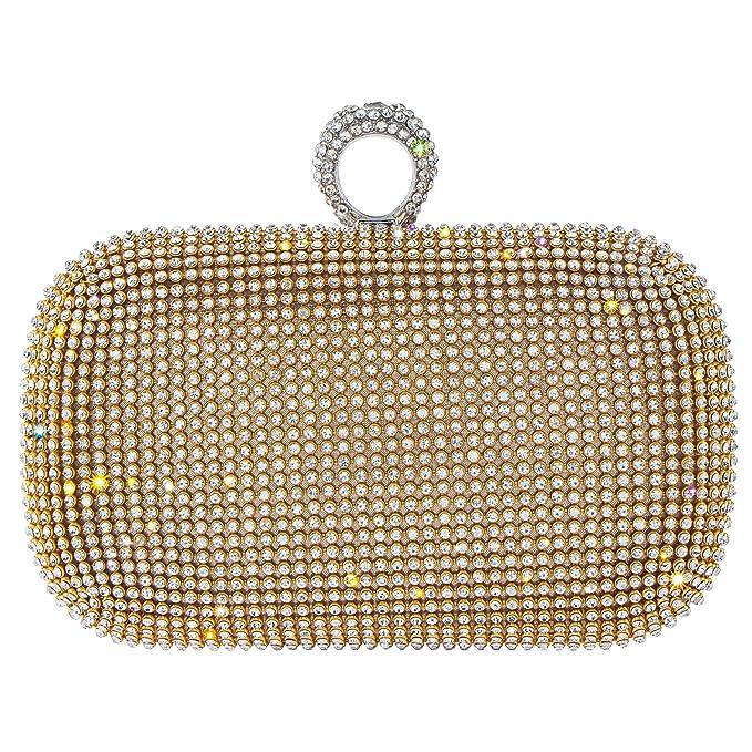 Bagood - Cartera de mano para mujer dorado dorado Talla única: Amazon.es: Ropa y accesorios
