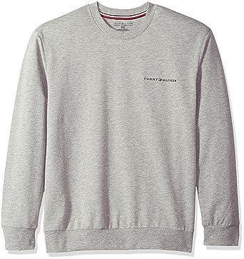 Tommy Hilfiger Men's Modern Essentials French Terry Sweatshirt, Grey Heather,  Small
