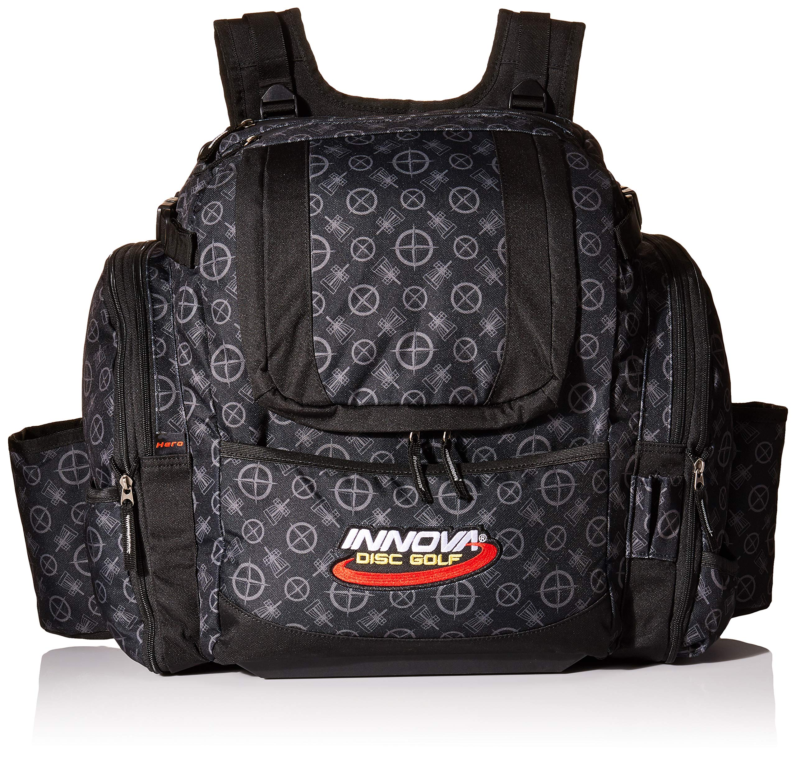 Innova Golf Disc Super Hero Backpack Bag, Black Pattern by Innova Disc Golf