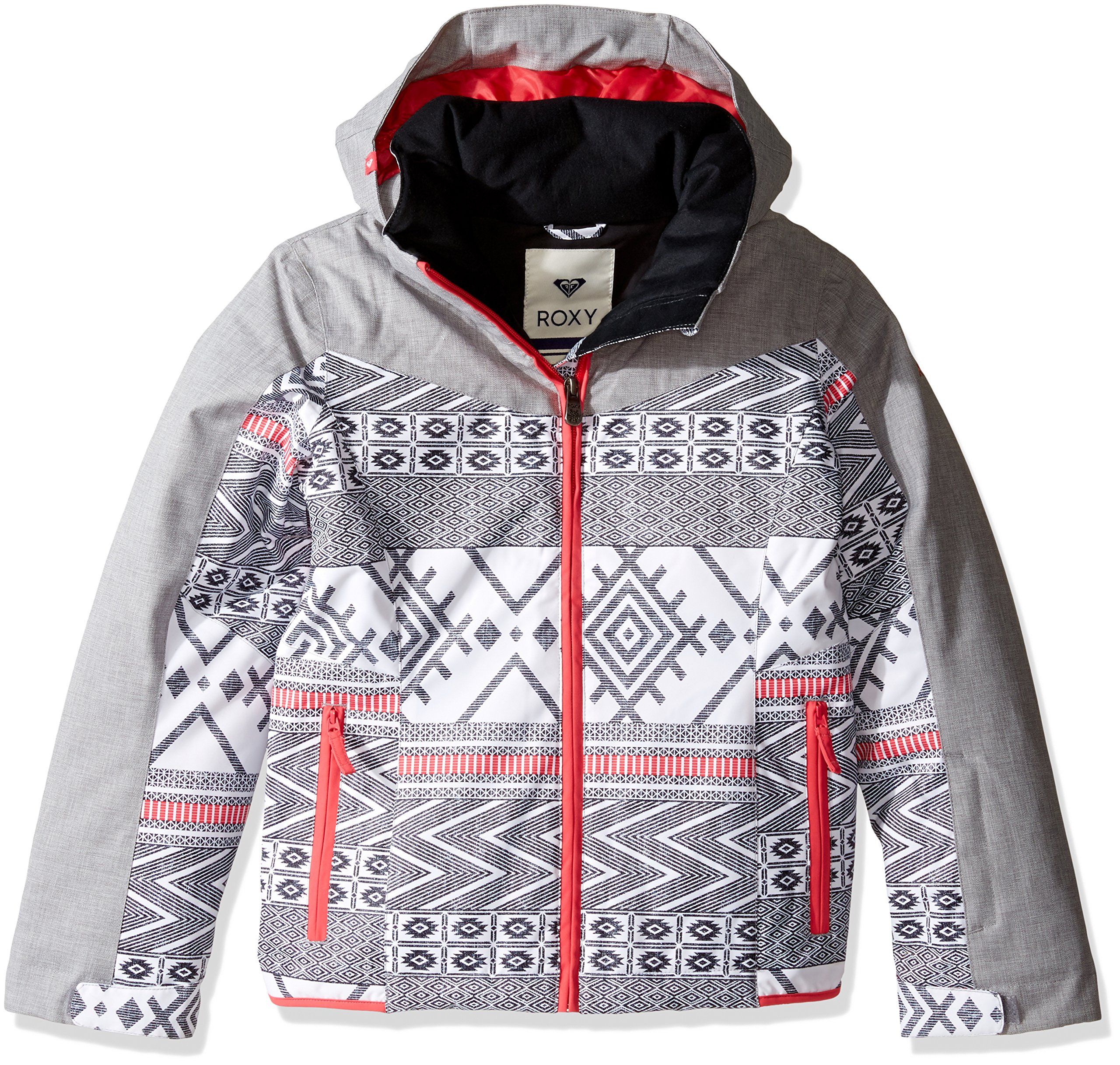 Roxy Big Girls' Sassy Snow Jacket, Windy Road, 10/M by Roxy