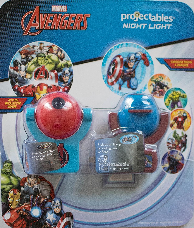 2パックMarvel Avengers projectables|rotatable 6-imageプロジェクトLEDナイトライトと1つのイメージに投影LEDナイトライト、プラグイン、ライトSensing、dusk-to-dawn、壁または天井 B0757BJGQ4 13580