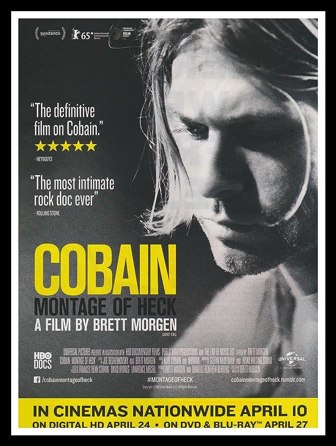 Gerahmtes Bild Kurt Cobain Nirvana Original Magazin-Werbung A4 ...