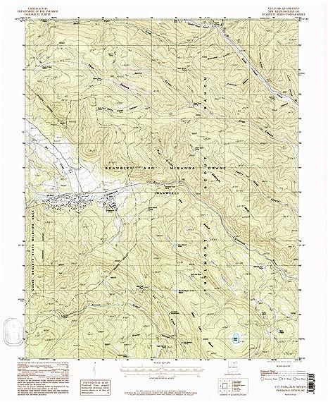 Philmont New Mexico Map.Amazon Com Yellowmaps Ute Park Nm Topo Map 1 24000 Scale 7 5 X