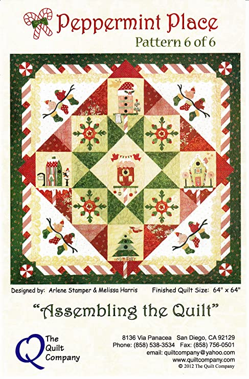 Christmas Quilt Patterns.Amazon Com Peppermint Place Christmas Quilt Pattern
