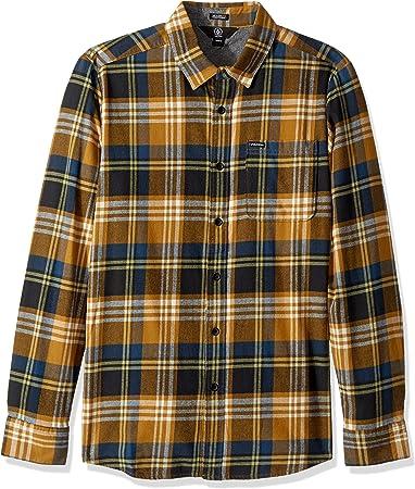 Camiseta de manga larga para hombres,Tiene un bolsillo en el pecho,100% Algodón, 100% Algodón,Cierre