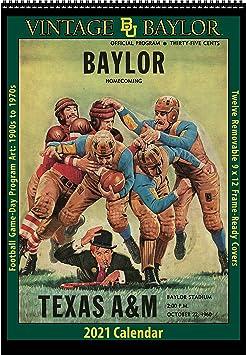 Amazon.: 2021 Vintage Baylor Bears Football Calendar : Office
