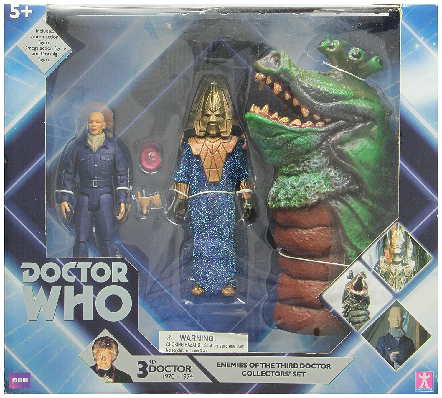 Underground Toys 016124 – Dr. 'Who – 5 AF Set – Enemies of The Third Doctor Collectors' Set