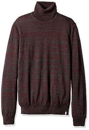 Calvin Klein Men's Merino Turtleneck Sweater, Dusty Black, LARGE ...