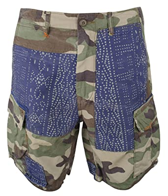 71e9bb9d7e Ralph Lauren Polo Mens Distressed Patch Repaired Cargo Shorts Camo (32)