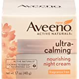 Aveeno Ultra-Calming Nourishing Night Cream For Sensitive Skin, 1.7 Oz