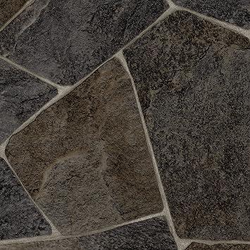 PVC Bodenbelag Steinoptik 200 Meterware 300 und 400 cm Breite Gr/ö/ße: 3 x 2 m Chip anthrazit verschiedene Gr/ö/ßen